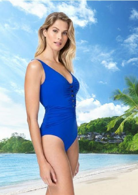 Gottex Profiles -Waterfall Swimsuit Royal